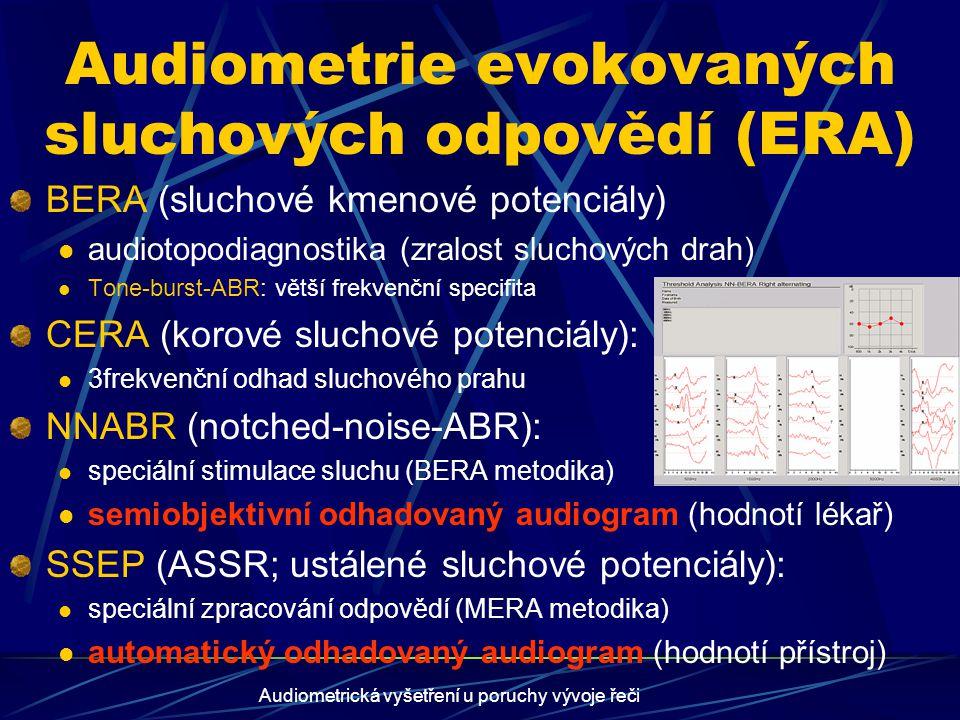 Audiometrie evokovaných sluchových odpovědí (ERA)