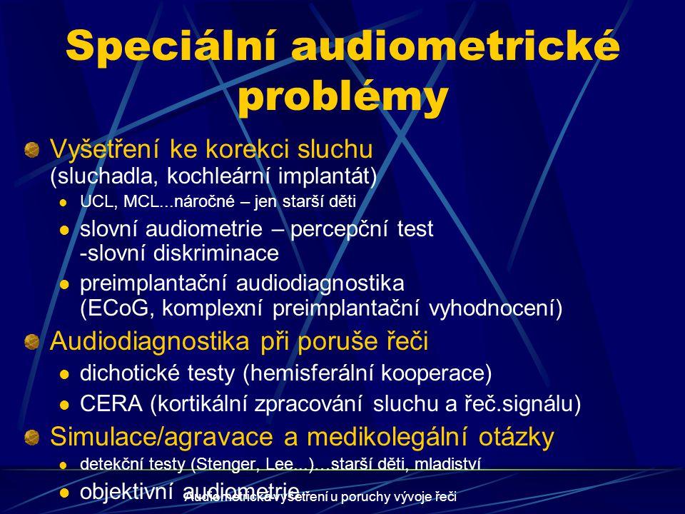 Speciální audiometrické problémy