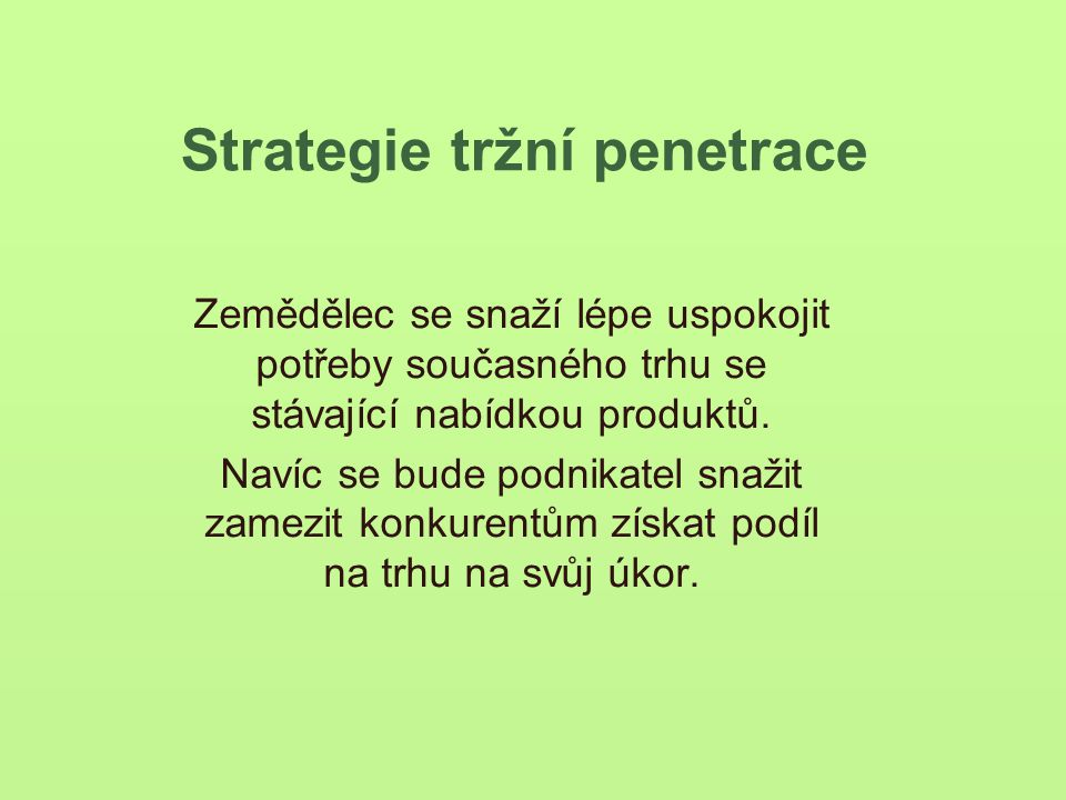 Strategie tržní penetrace