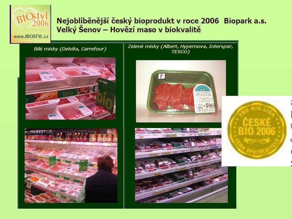 Nejoblíběnější český bioprodukt v roce 2006 Biopark a. s