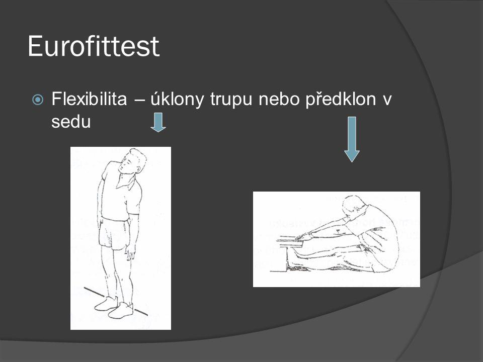 Eurofittest Flexibilita – úklony trupu nebo předklon v sedu