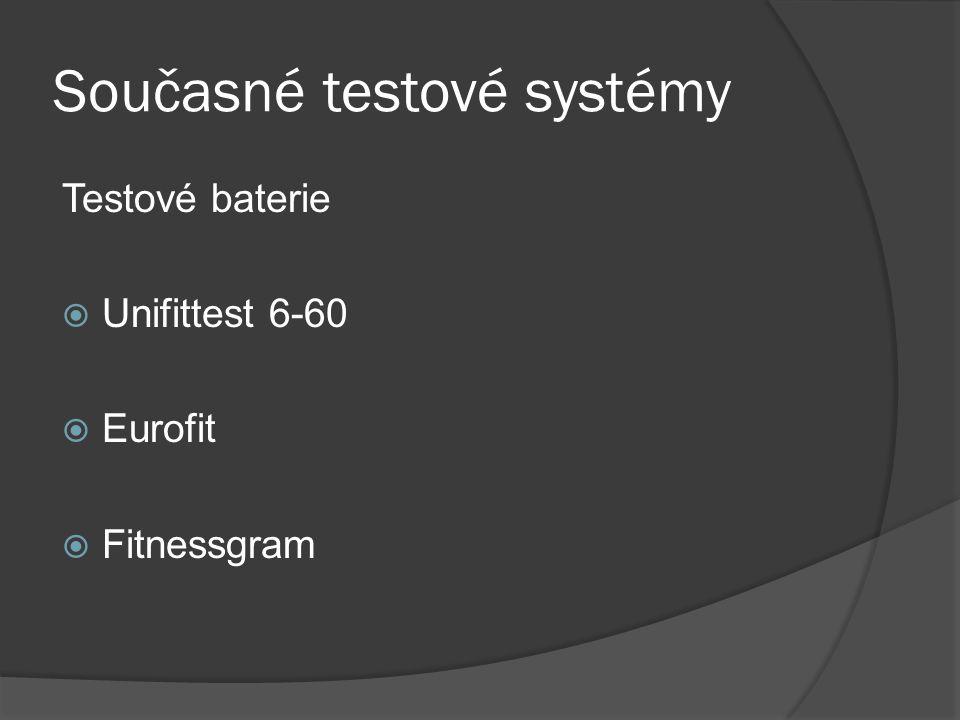 Současné testové systémy