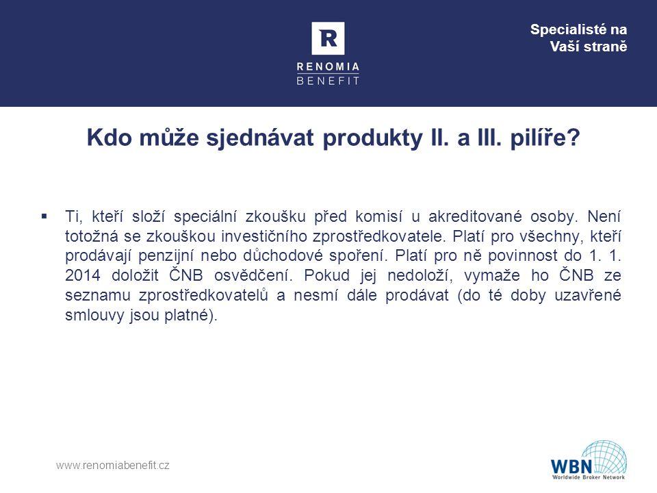 Kdo může sjednávat produkty II. a III. pilíře