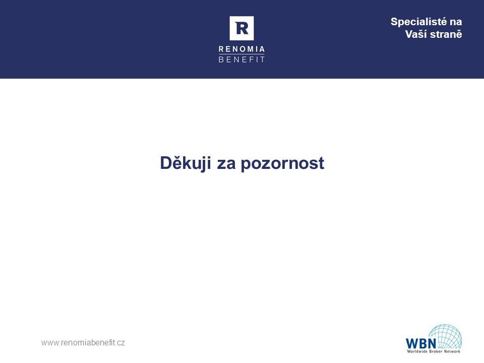 Děkuji za pozornost www.renomiabenefit.cz