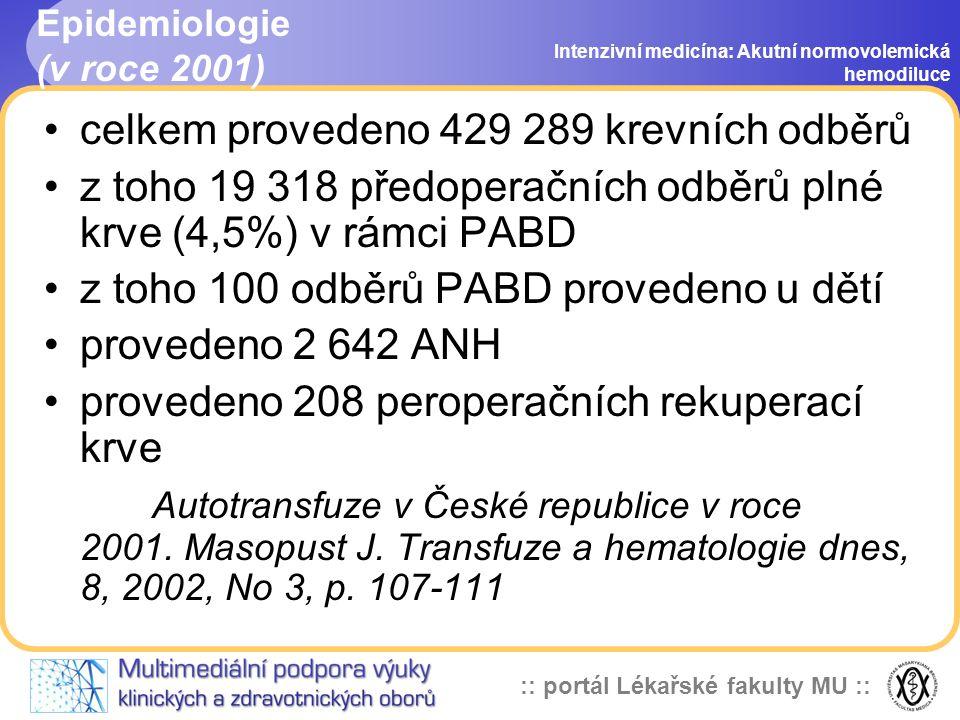 Epidemiologie (v roce 2001)