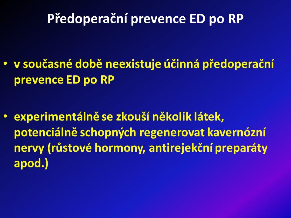 Předoperační prevence ED po RP
