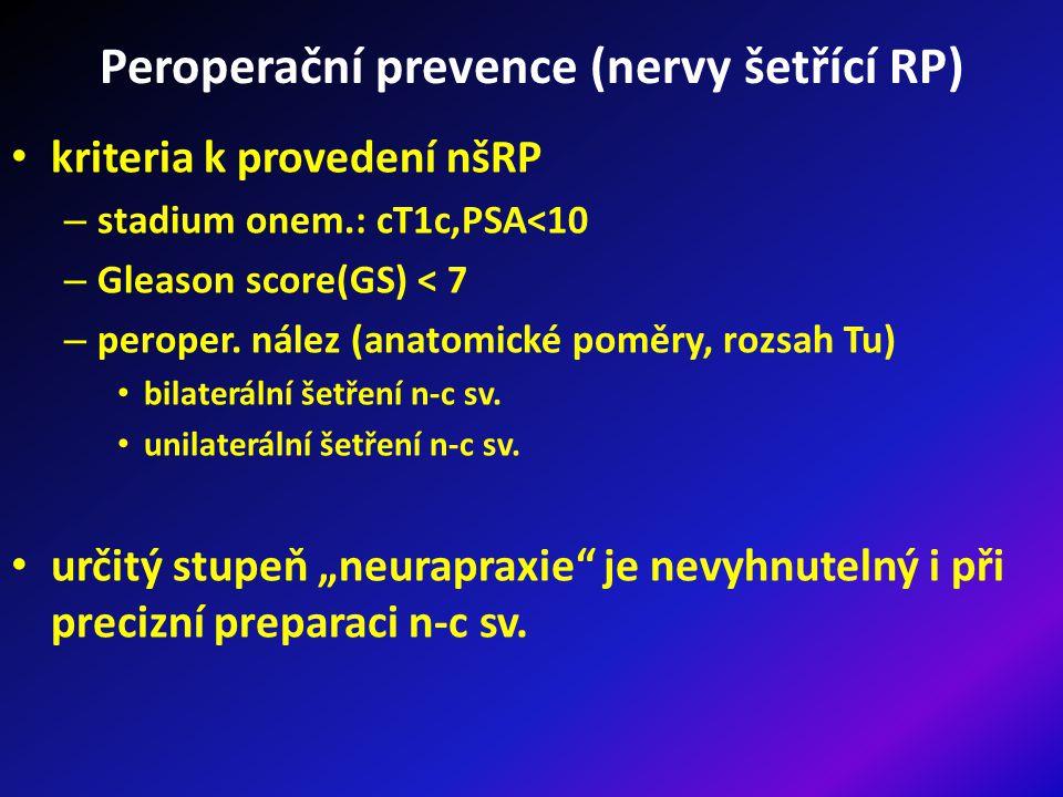 Peroperační prevence (nervy šetřící RP)