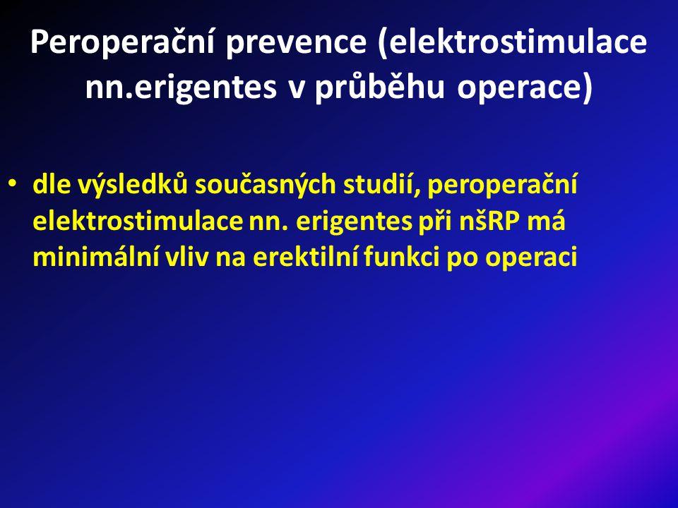 Peroperační prevence (elektrostimulace nn.erigentes v průběhu operace)