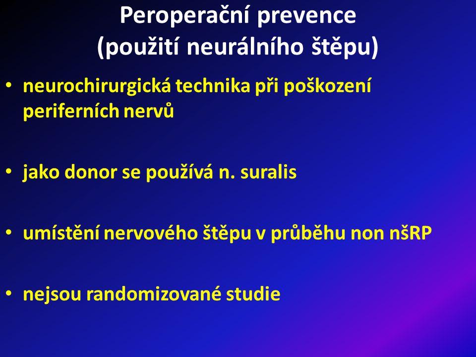 Peroperační prevence (použití neurálního štěpu)