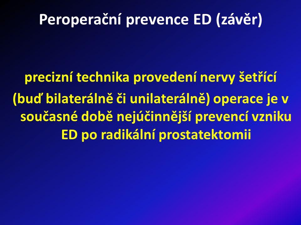 Peroperační prevence ED (závěr)