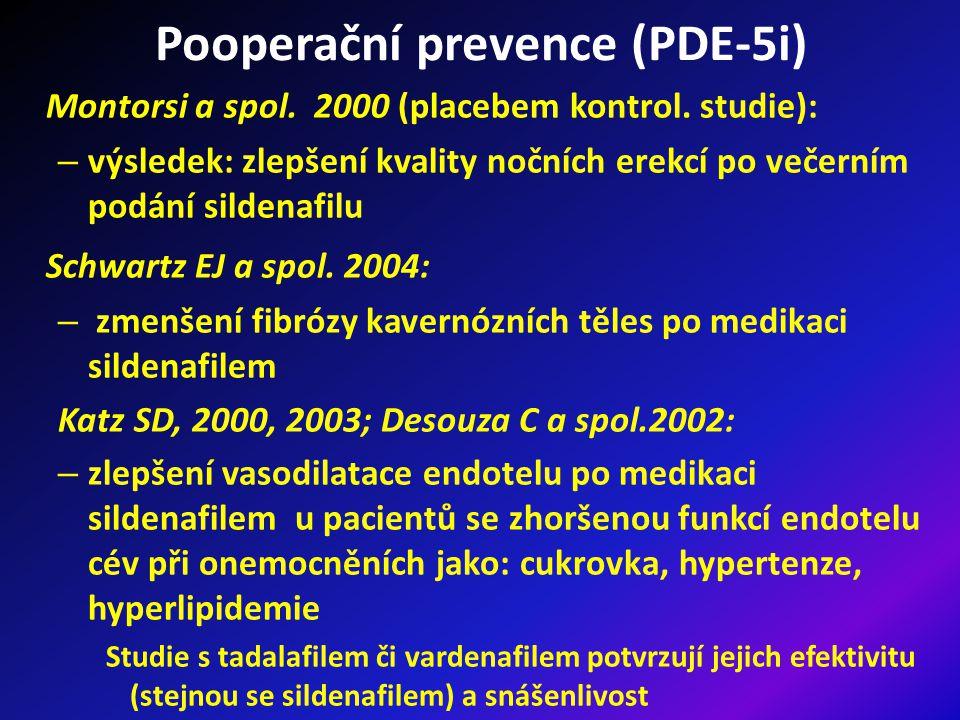 Pooperační prevence (PDE-5i)