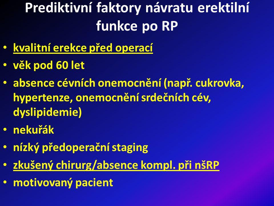 Prediktivní faktory návratu erektilní funkce po RP