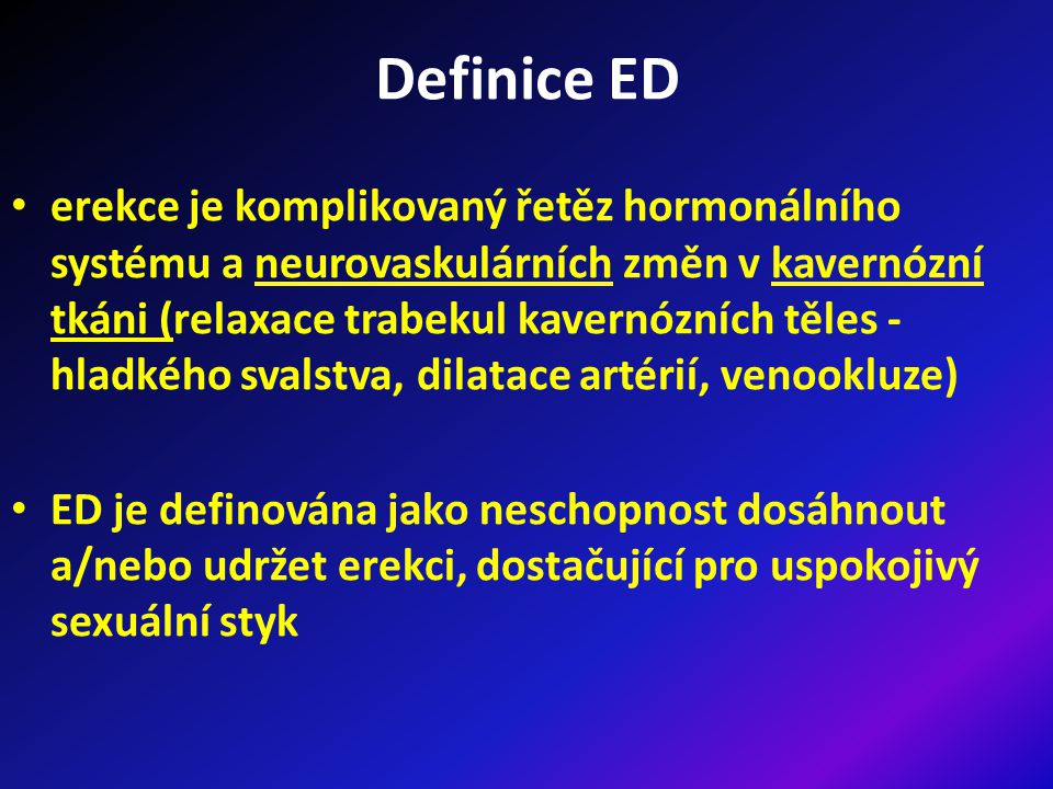 Definice ED
