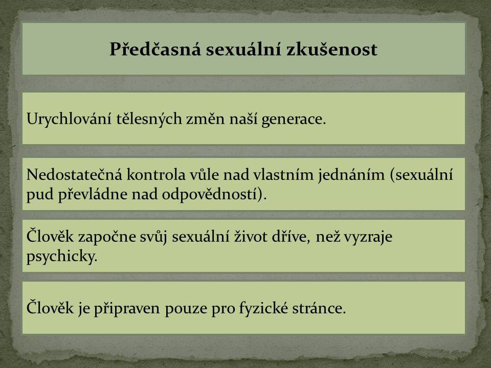 Předčasná sexuální zkušenost