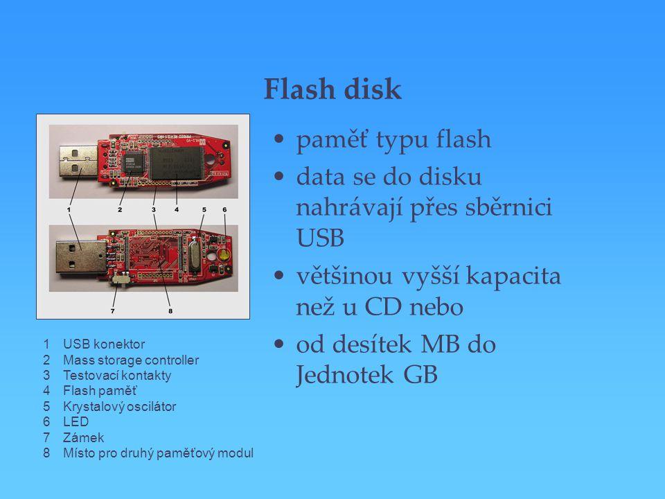 Flash disk paměť typu flash