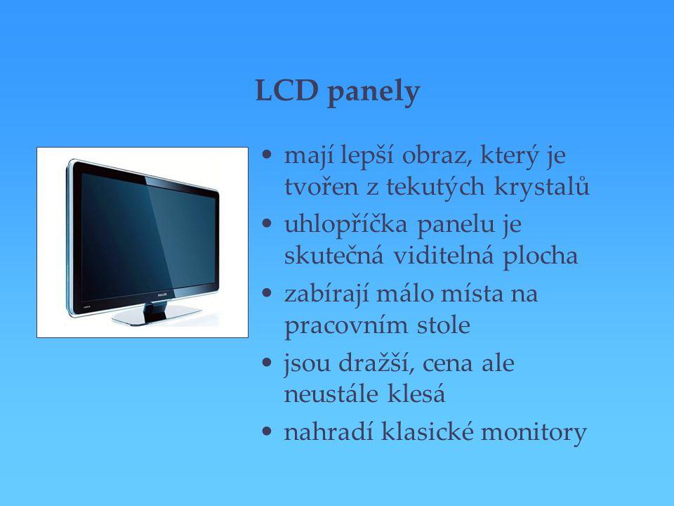 LCD panely mají lepší obraz, který je tvořen z tekutých krystalů