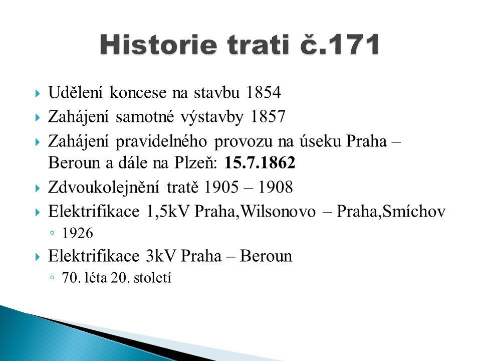 Historie trati č.171 Udělení koncese na stavbu 1854