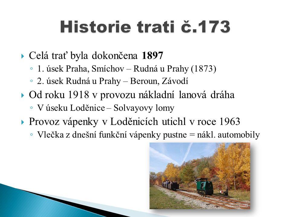 Historie trati č.173 Celá trať byla dokončena 1897