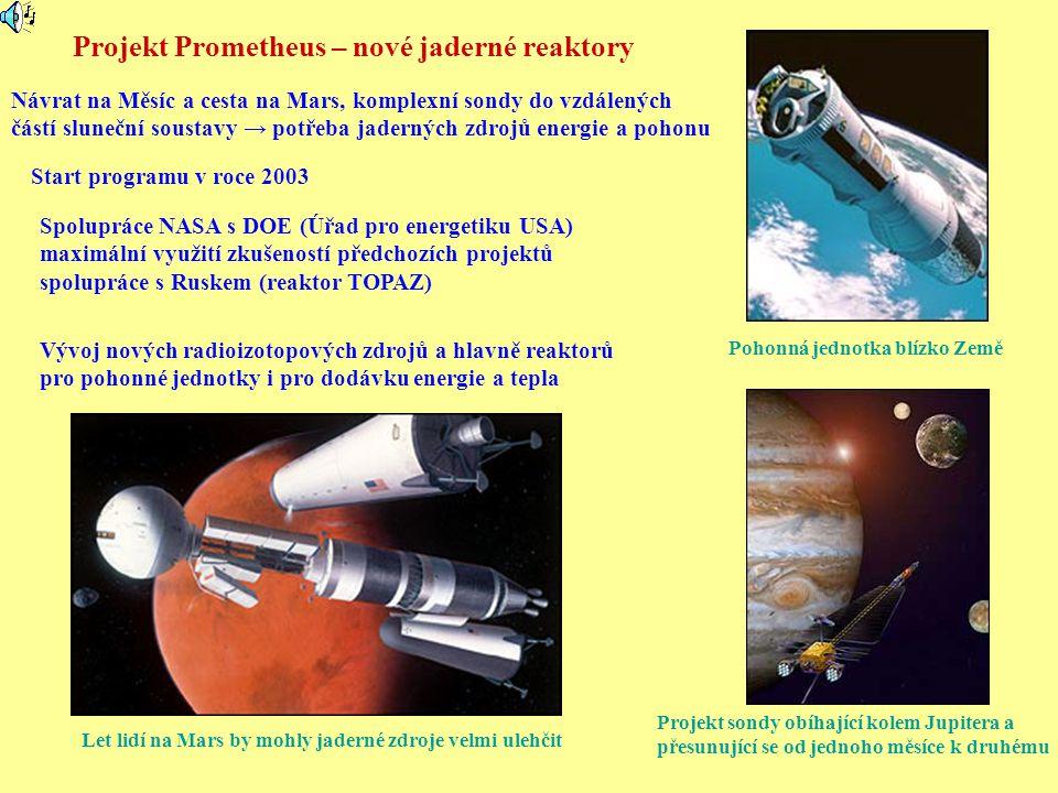 Projekt Prometheus – nové jaderné reaktory