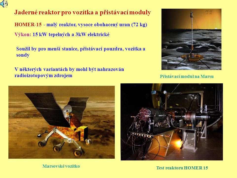 Jaderné reaktor pro vozítka a přistávací moduly