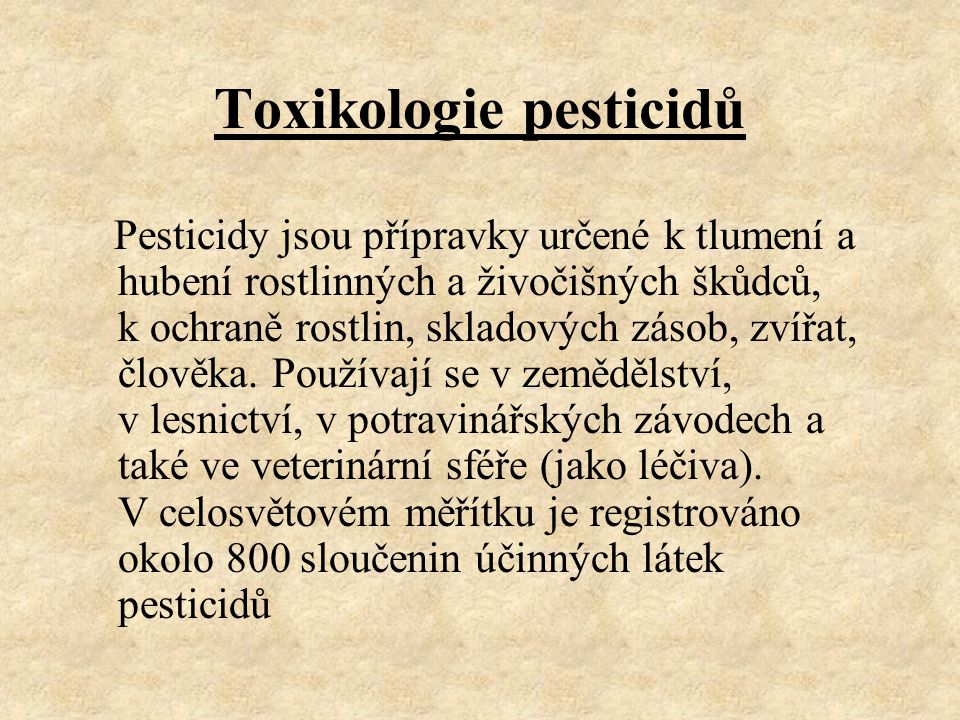 Toxikologie pesticidů
