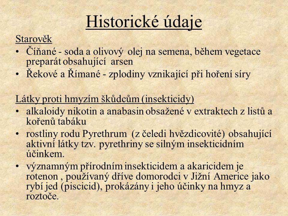 Historické údaje Starověk
