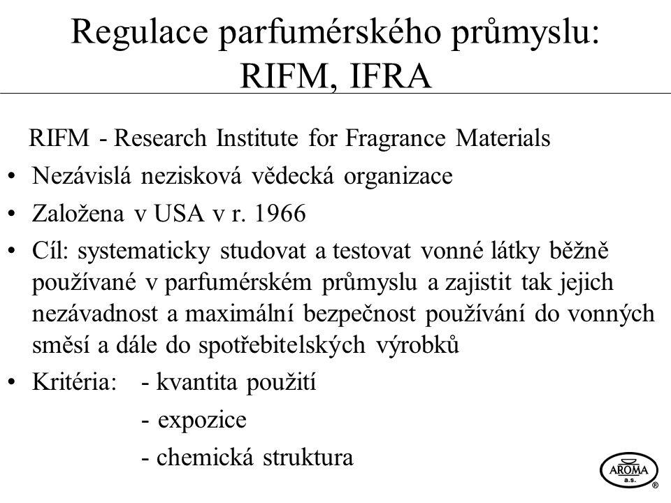 Regulace parfumérského průmyslu: RIFM, IFRA