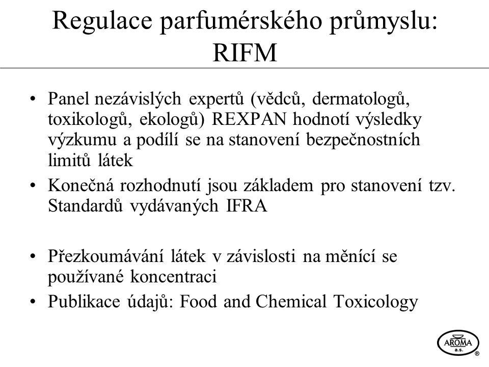 Regulace parfumérského průmyslu: RIFM