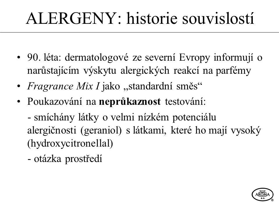 ALERGENY: historie souvislostí