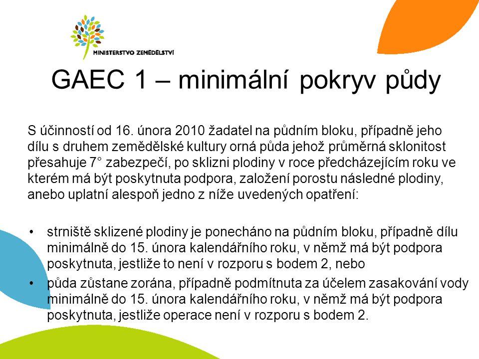 GAEC 1 – minimální pokryv půdy