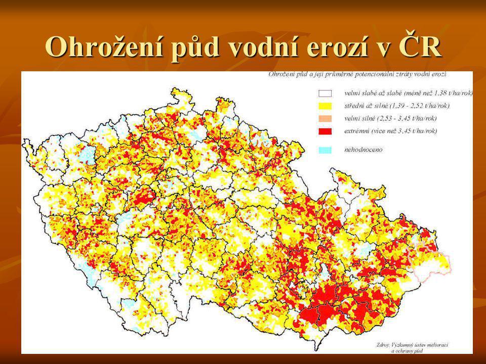 Ohrožení půd vodní erozí v ČR