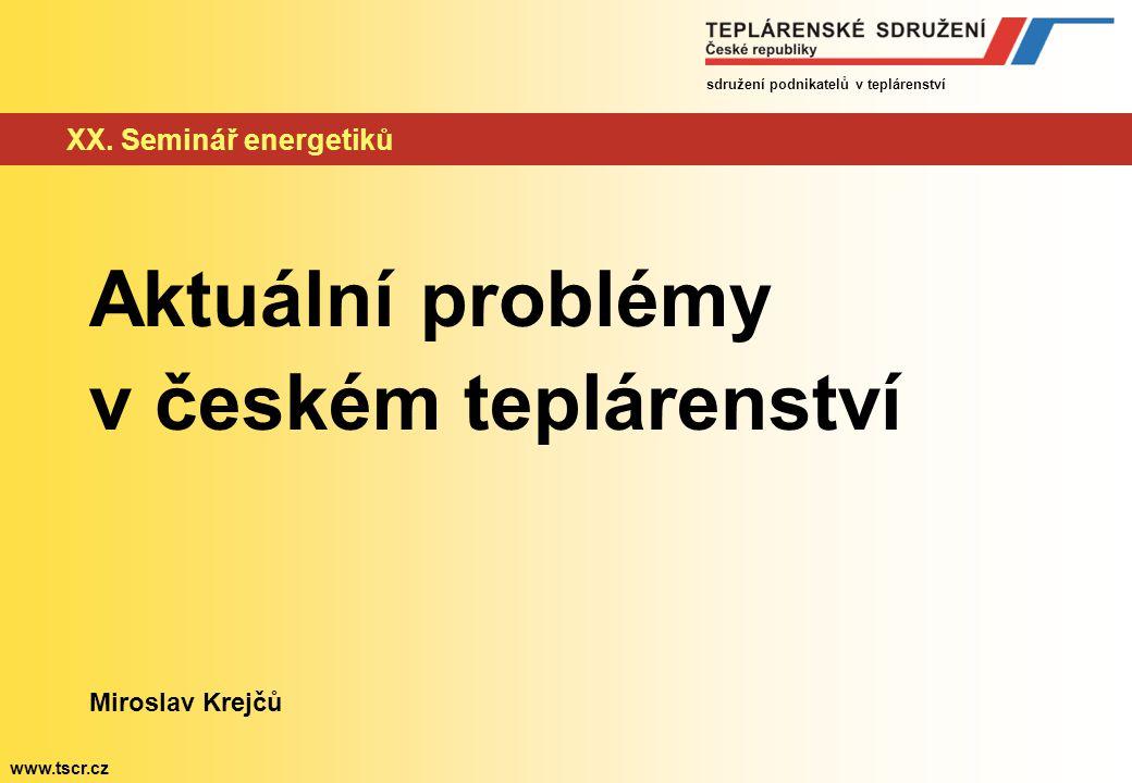 Aktuální problémy v českém teplárenství XX. Seminář energetiků