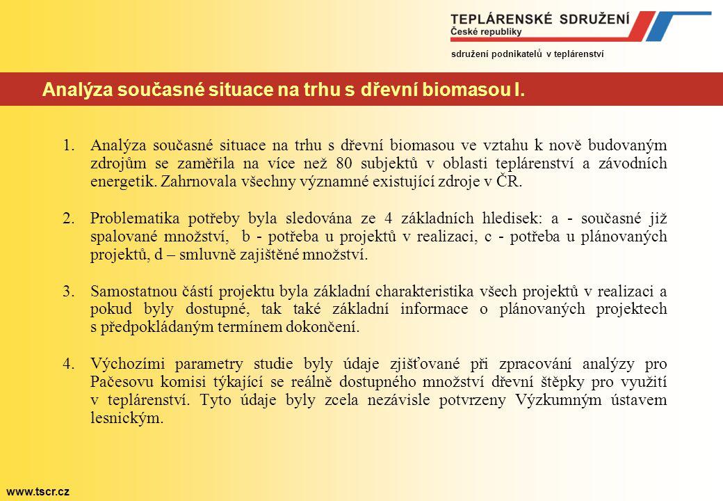 Analýza současné situace na trhu s dřevní biomasou I.