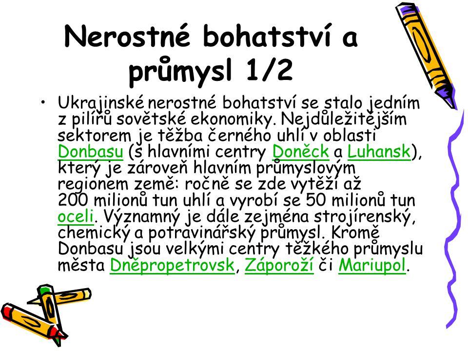 Nerostné bohatství a průmysl 1/2