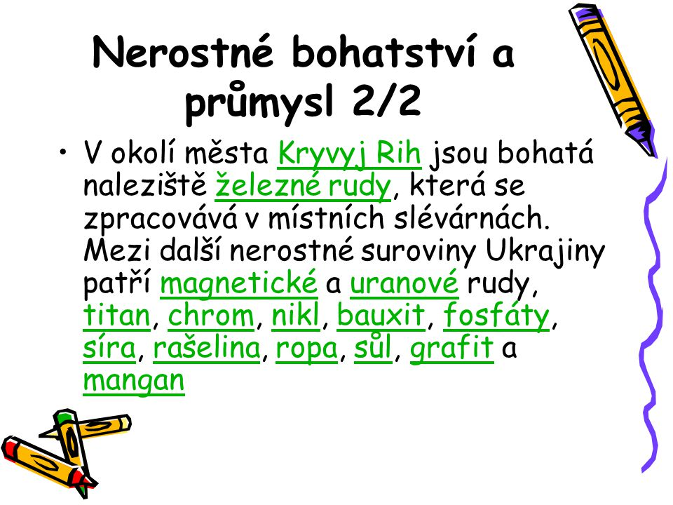Nerostné bohatství a průmysl 2/2