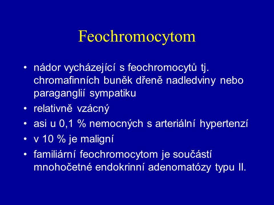 Feochromocytom nádor vycházející s feochromocytů tj. chromafinních buněk dřeně nadledviny nebo paraganglií sympatiku.