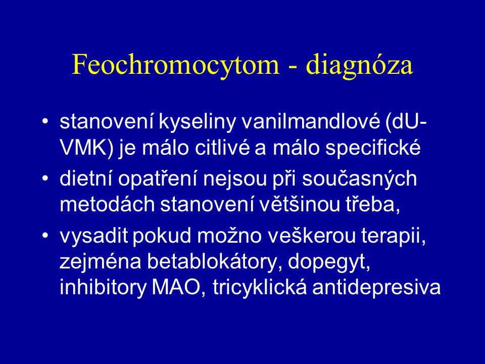 Feochromocytom - diagnóza
