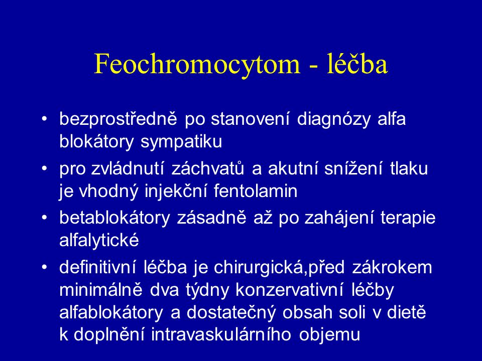 Feochromocytom - léčba