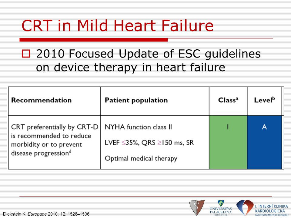 CRT in Mild Heart Failure