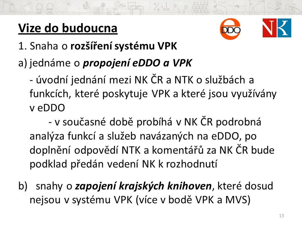 Vize do budoucna 1. Snaha o rozšíření systému VPK