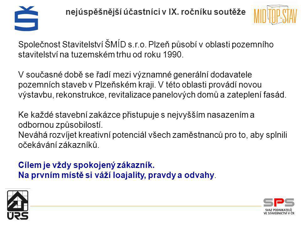 Společnost Stavitelství ŠMÍD s. r. o