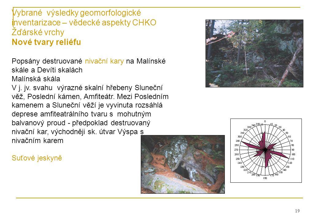 8.4.2017 Vybrané výsledky geomorfologické inventarizace – vědecké aspekty CHKO Žďárské vrchy. Nové tvary reliéfu.