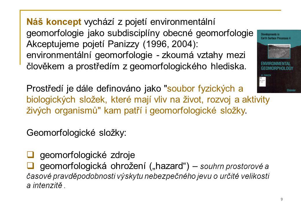 Akceptujeme pojetí Panizzy (1996, 2004):
