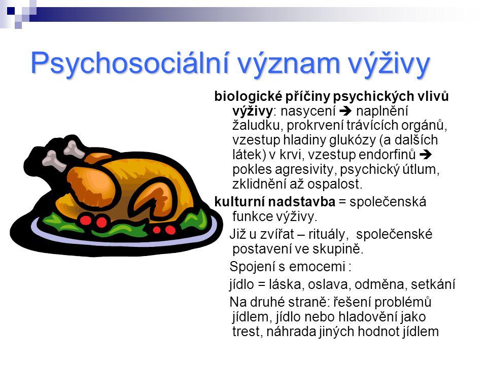 Psychosociální význam výživy
