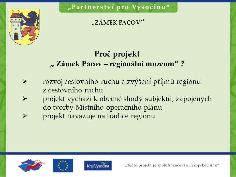 """"""" Zámek Pacov – regionální muzeum"""