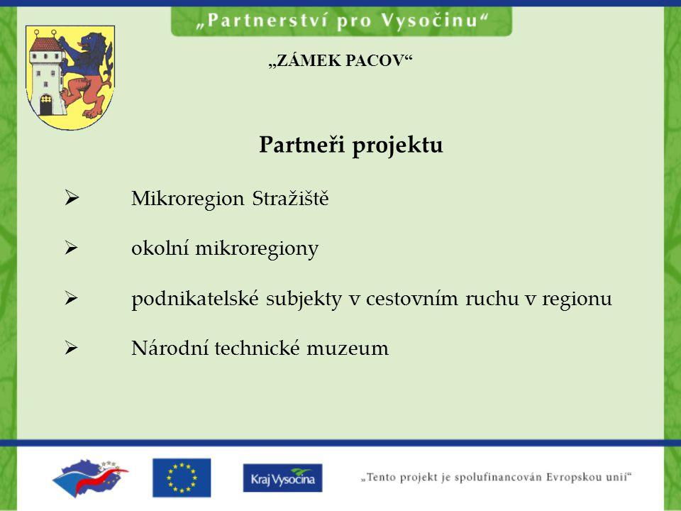 Partneři projektu Mikroregion Stražiště okolní mikroregiony
