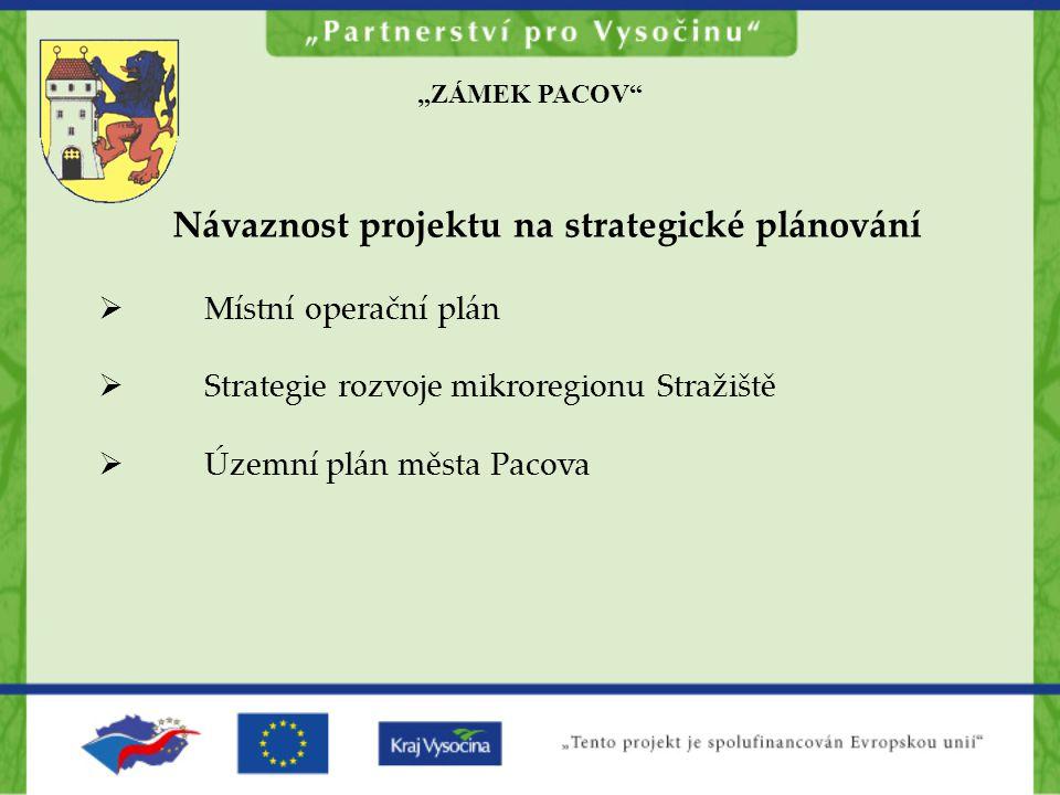 Návaznost projektu na strategické plánování