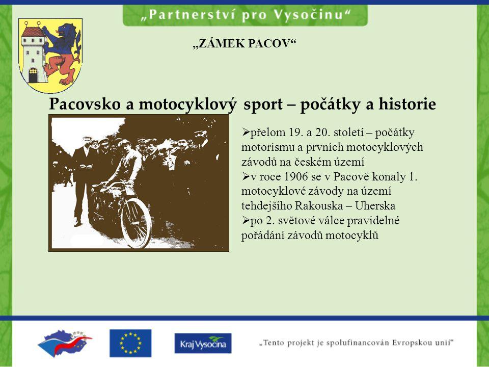 Pacovsko a motocyklový sport – počátky a historie