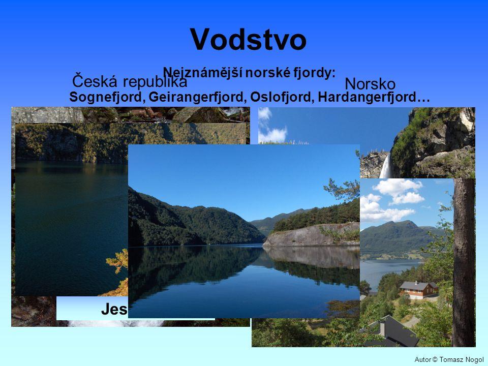 Vodstvo Česká republika Norsko Bílá Opava Jeseníky Vettisfossen Norsko