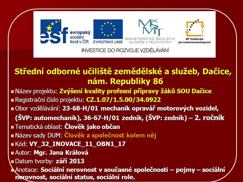 Střední odborné učiliště zemědělské a služeb, Dačice, nám. Republiky 86